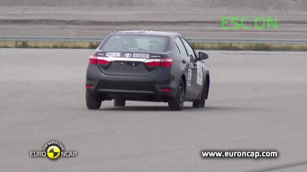 2013款丰田卡罗拉 车身稳定性测试