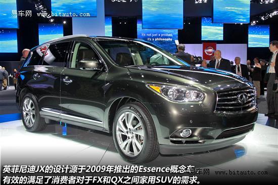 英菲尼迪JX北美公布售价 或亮相北京车展