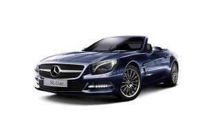 进口奔驰SL级AMG 水硅钒钙石蓝金属漆