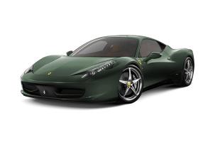 进口法拉利458 暗绿色