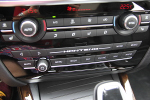 汉腾X7 中控台空调控制键