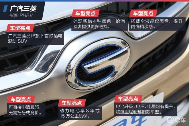 抢先实拍2019款广汽三菱祺智PHEV 百公里油耗低至1.6L