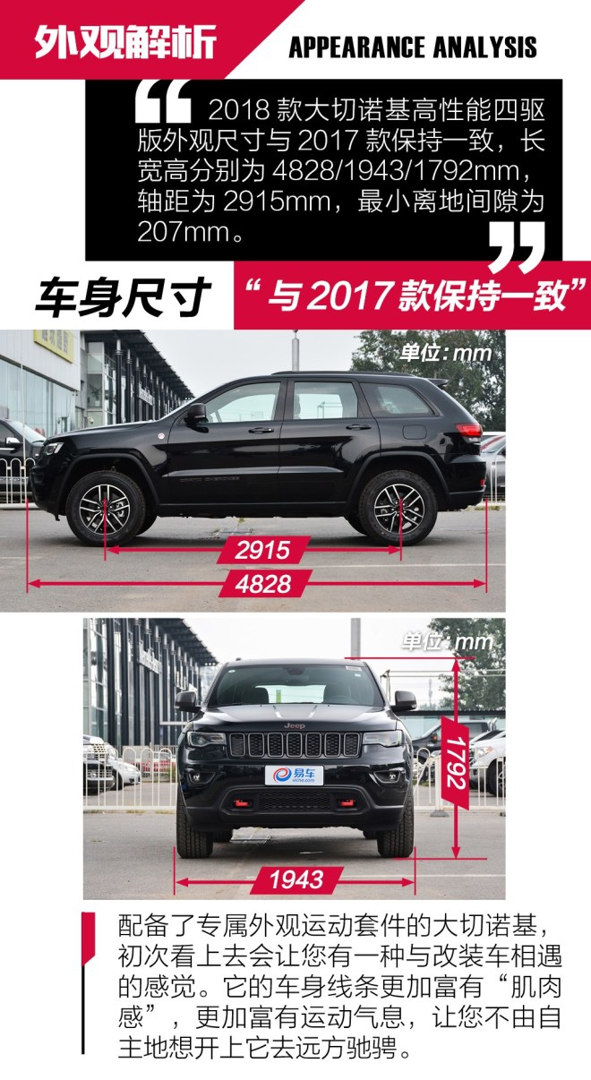 抢先实拍2018款Jeep大切诺基高性能四驱版 运动加身四驱升级