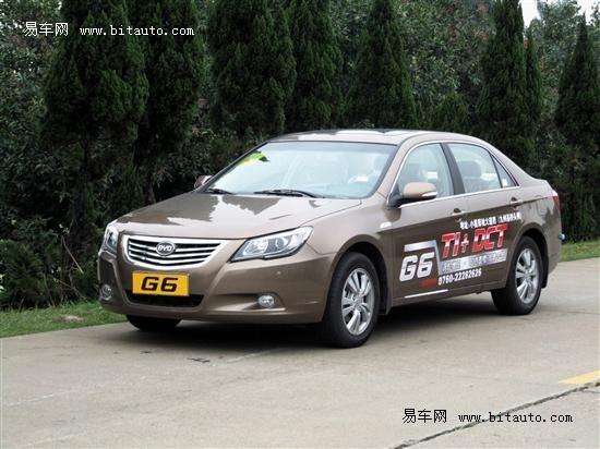 比亚迪G6展车到店 订金1万元2个月提车