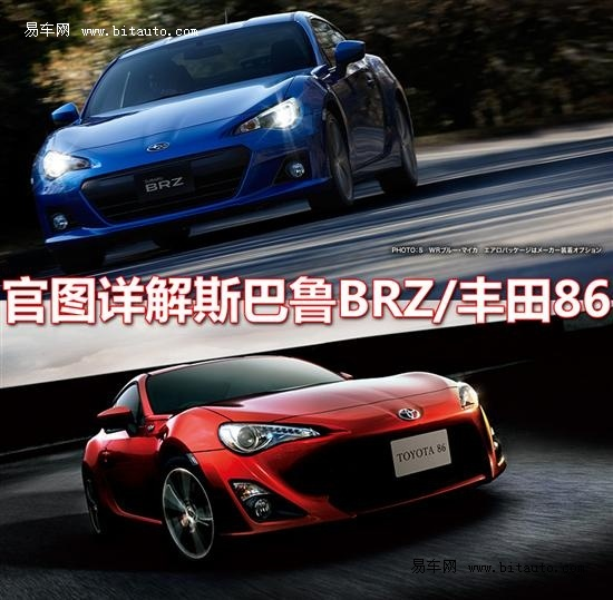 AE86继承者 官图详解斯巴鲁BRZ/丰田86