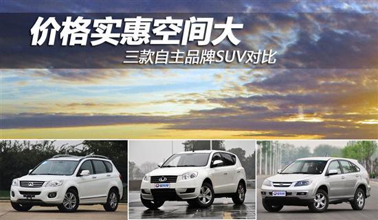 价格实惠空间大 三款自主品牌SUV对比