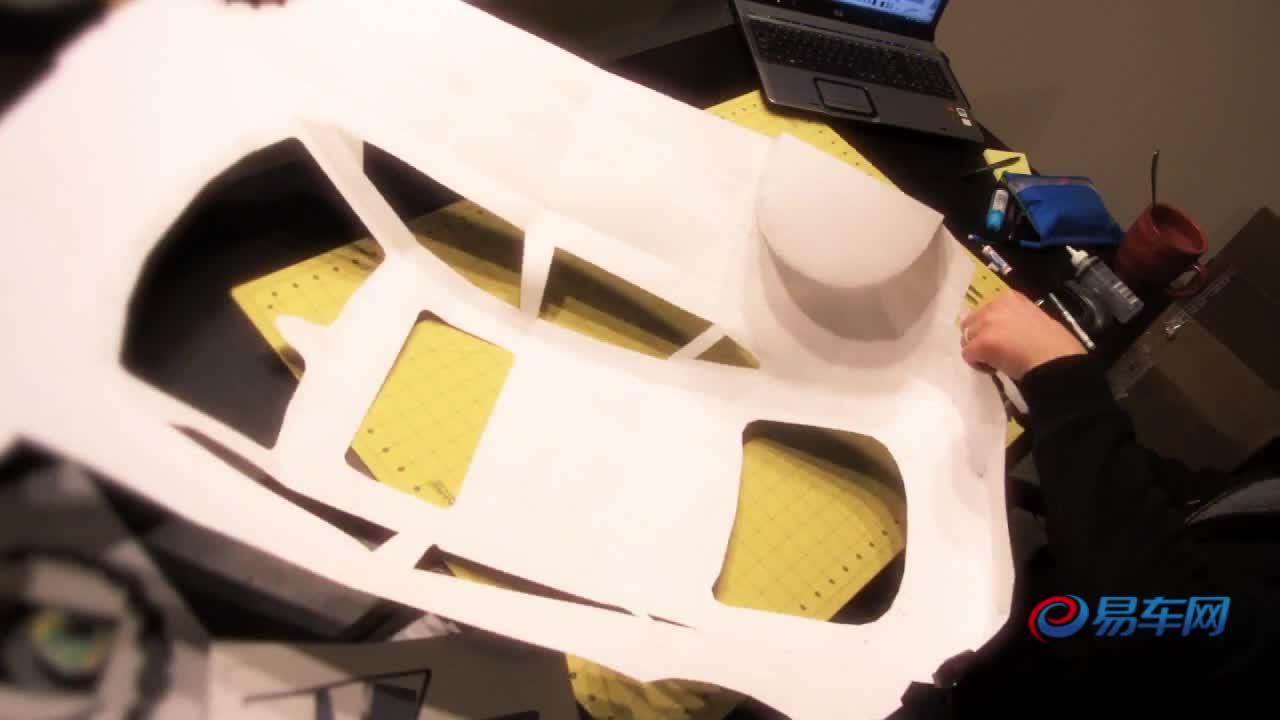国外发烧友手工制作2012款a7模型