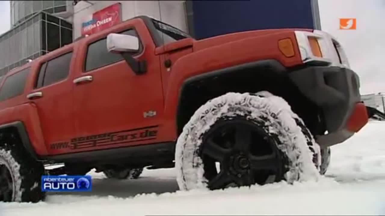 改装悍马H3 雪地中装备履带的猛兽