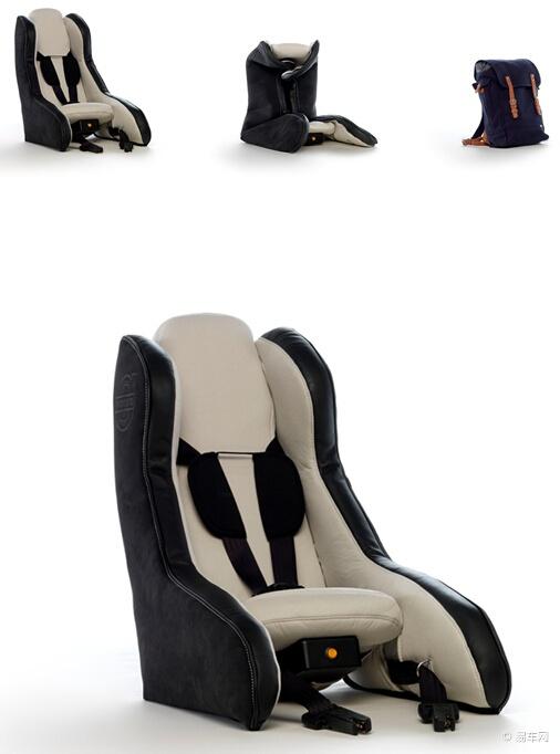 充气式概念儿童安全座椅