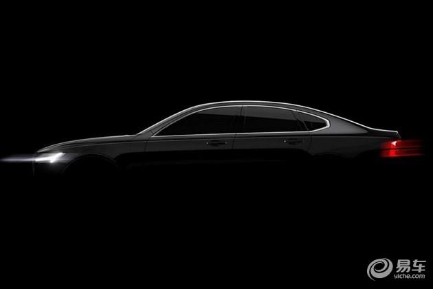 沃尔沃全新S90预告图发布北美车展首发