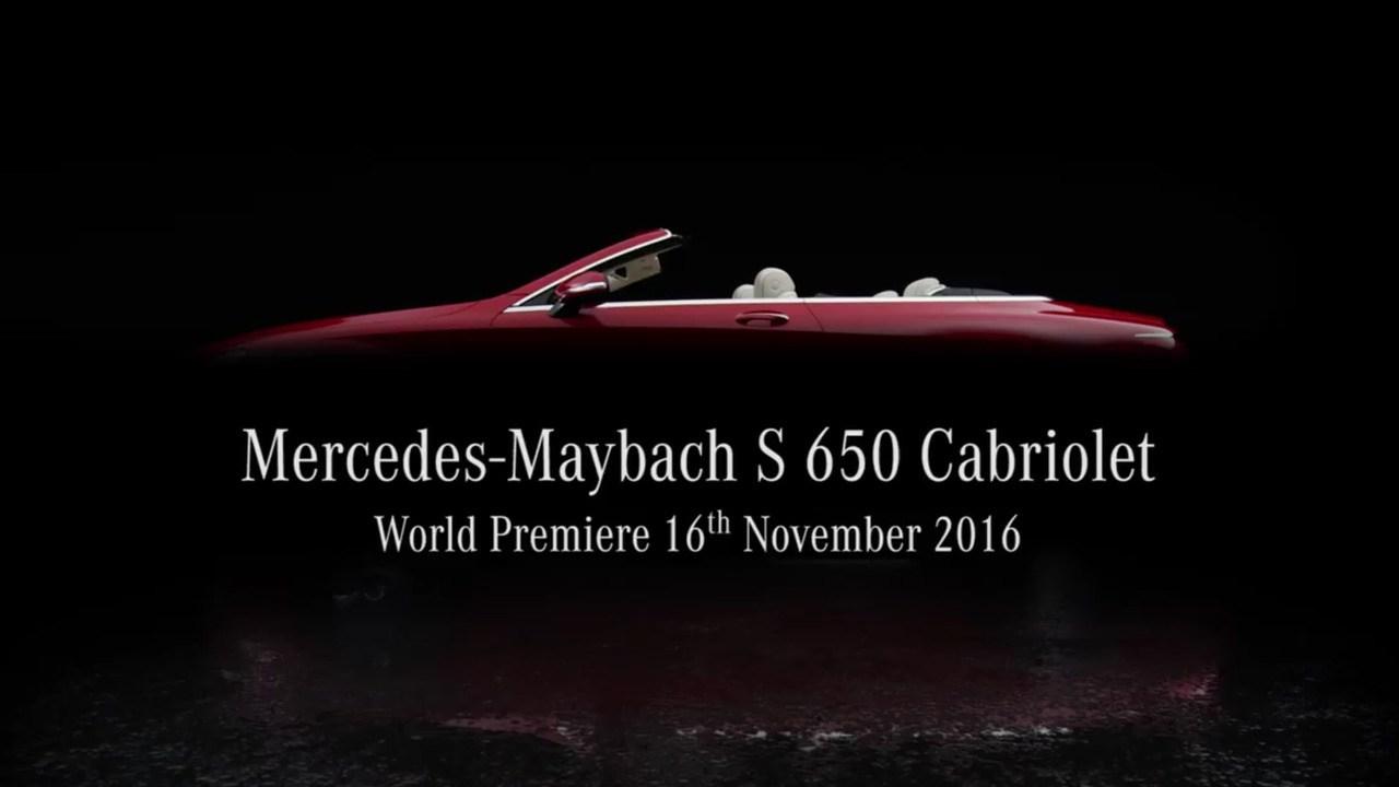 奔驰将发布迈巴赫S级敞篷车 限量300台