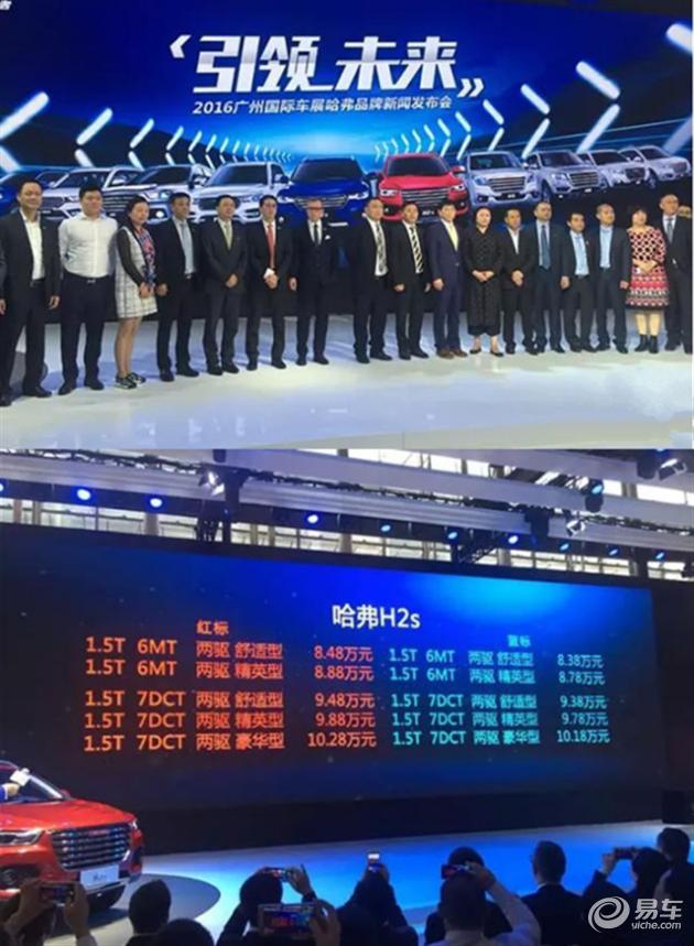 8.38-10.28万 未来范SUV哈弗H2s领潮上市