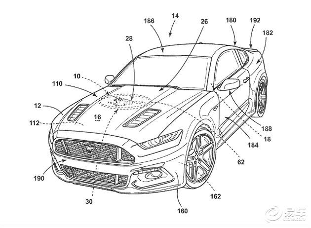 福特申请新汽车专利 可改变车身LOGO