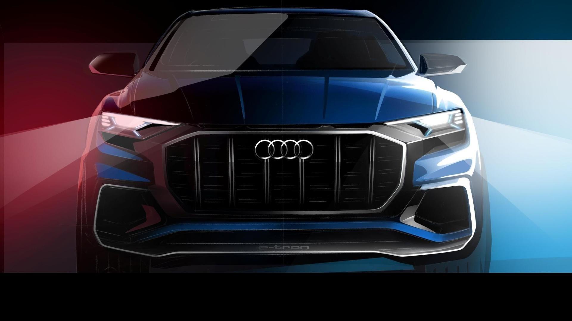 奥迪Q8 E-tron概念车预览 将于1月份首发