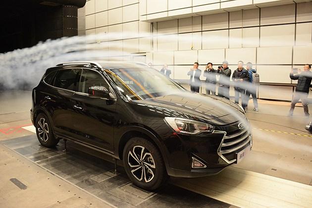 江淮瑞风S7风洞试验 SUV如何获得低风阻?