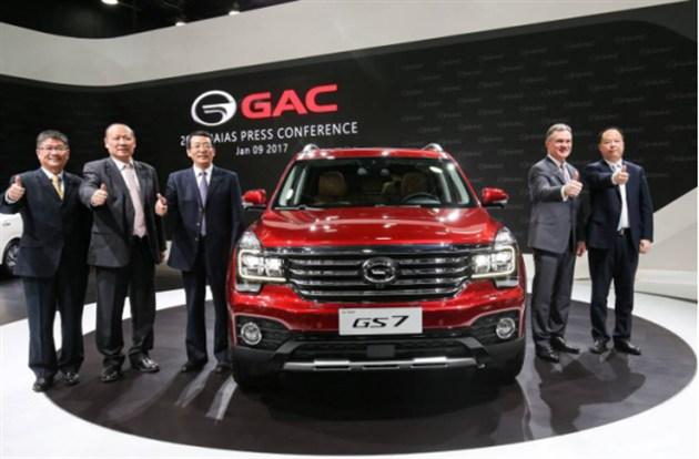 传祺GS7全球首发 与国际汽车品牌竞技