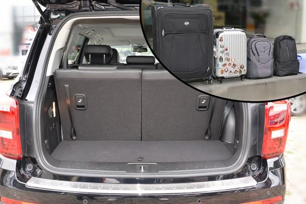20-30万主流7座SUV 后备厢够放多少行李?