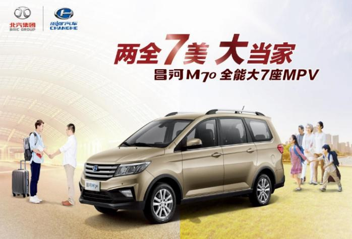 """售价5.49-6.49万""""全能大7座MPV""""昌河M70商丘区域正式上市"""