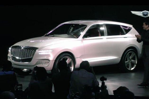 现代GENESIS首款SUV概念车GV80亮相纽约车展 搭载氢燃料电池