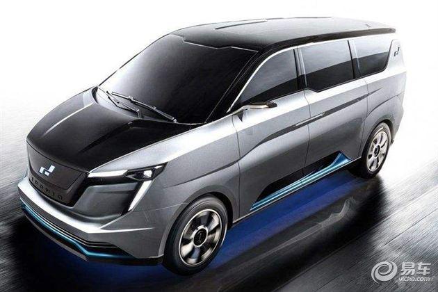 国产电动车自主品牌艾康尼克量产车型亮相上海
