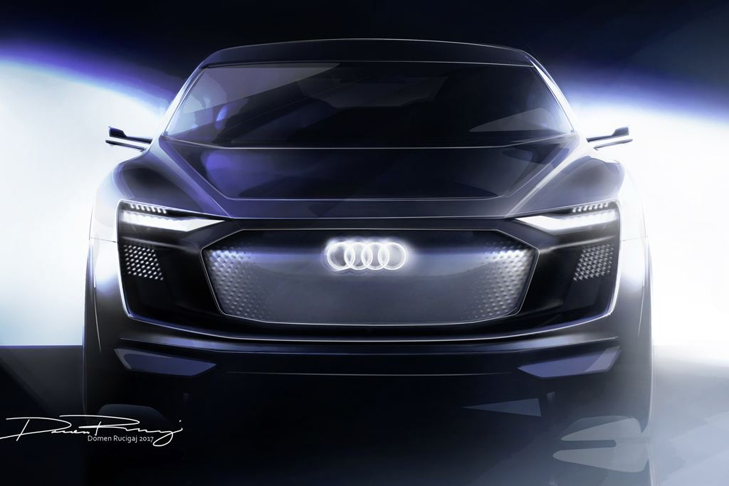 奥迪发布e-tron Sportback概念车设计图 系轿跑SUV