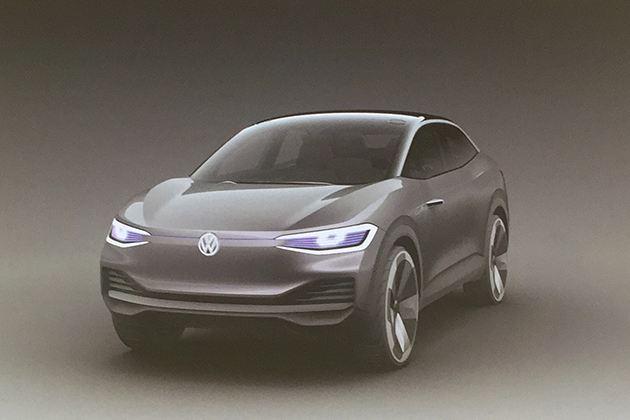 大众电动轿跑SUV概念车预告图发布 最大续航或达600km