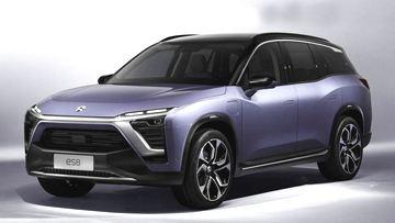 最新量产车蔚来ES8 高性能纯电动7座SUV