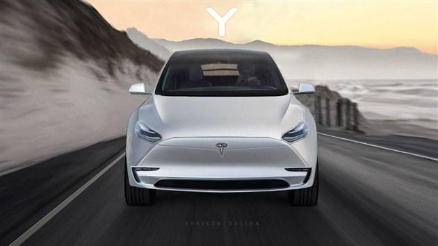 曝特斯拉Model Y假想图 造型效仿Model 3/2019年上市