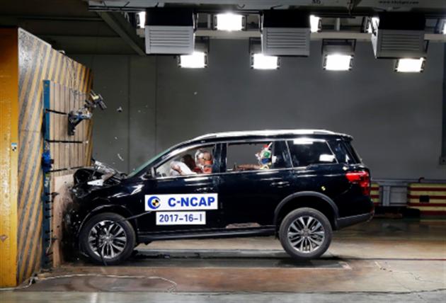 传祺GS8获C-NCAP中大型SUV最高分,树同级五星安全新标杆.