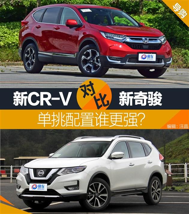 全新CR-V在自身产品力加强的同时,也要看看目前主流竞争对手的产品水平,而在这其中同为日系,刚刚改款不久,且销量在合资品牌中同级别最高的奇骏无疑是CR-V的主要竞争目标。