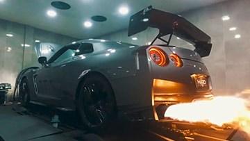 日产GT-R改装排气 狂躁喷火
