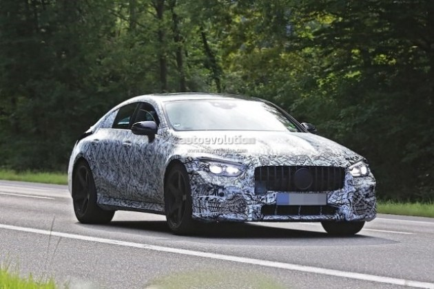 AMG GT四门版谍照再曝光 2018年正式发布