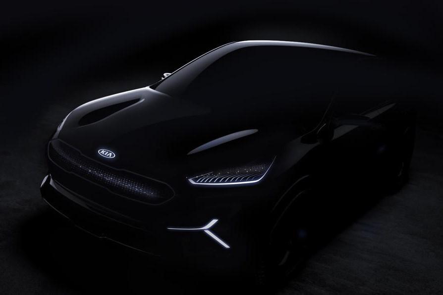起亚发布niro EV概念SUV预告图 纯电动力/2018CES展亮相