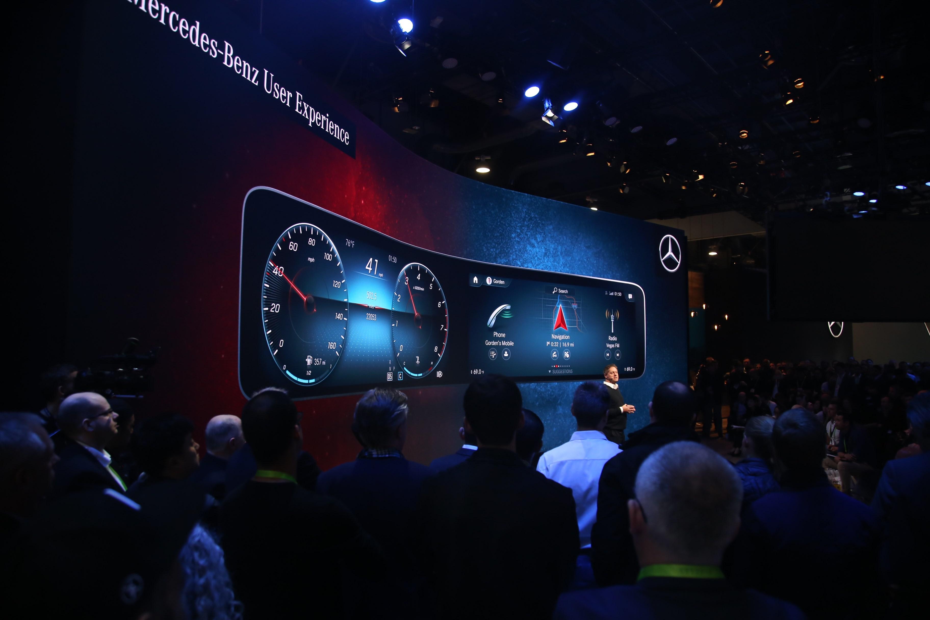 2018 CES展:低价也能享大屏 奔驰发布全新人机交互系统