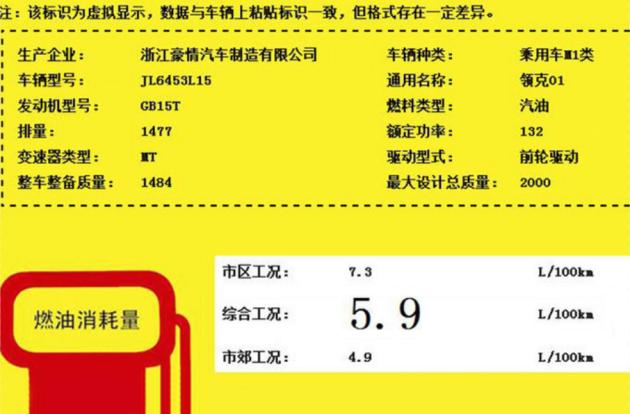 领克01将推1.5T手动挡车型  预计售价12.98万起