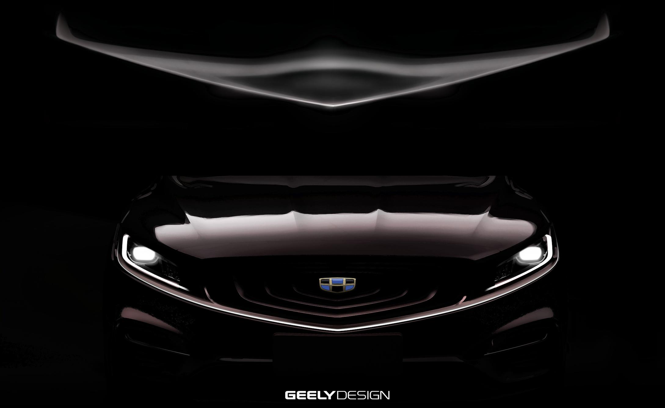 吉利全新混动K车型设计草图曝光 轿跑式设计/或为博瑞GT