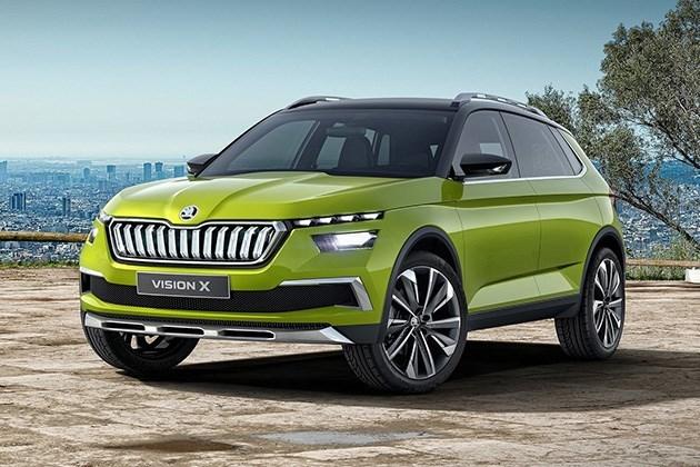 斯柯达Vision X概念车官图发布 2018日内瓦车展亮相/混合动力