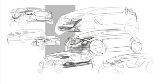 红旗首款纯电动SUV E-HS3设计草图曝光
