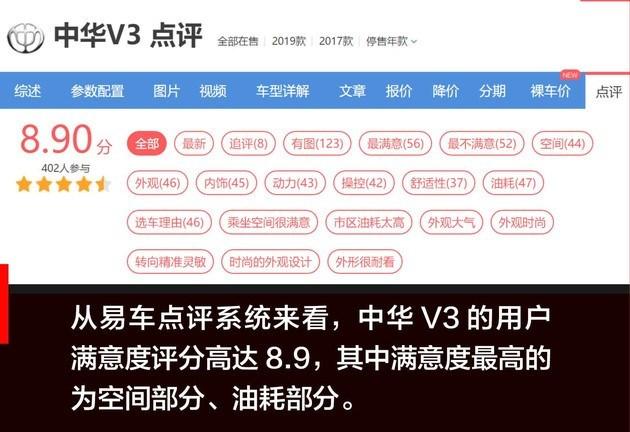 【图文】2020款华晨中华V3正式上市 搭国六动力售5.99