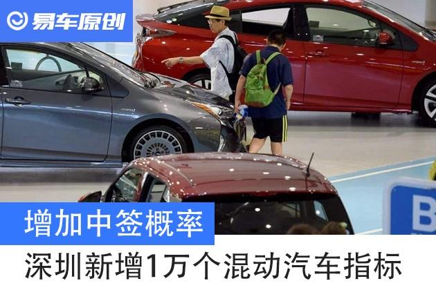 增长中签概率 深圳本月新增1万个混动小汽车目标