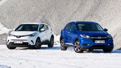 小型SUV大战 本田HR-V动态对比丰田C-HR