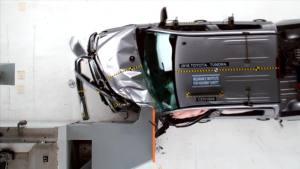 2016款丰田坦途 IIHS正面25%碰撞测试