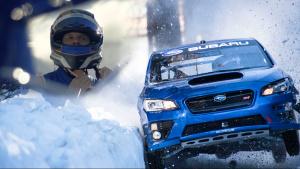 斯巴鲁WRX STI挑战雪橇轨道