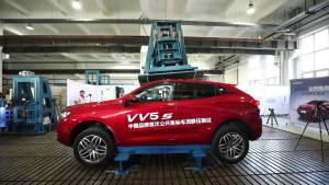 长城WEY VV5s 车顶测试