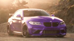 宝马M2华丽换装紫色车身