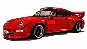重温经典 大神手绘保时捷911 GT2