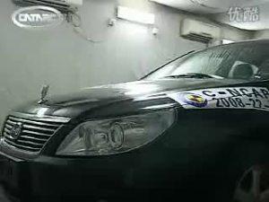 比亚迪F6车辆C-NCAP碰撞测试现场