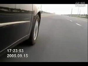 中华尊驰右前轮吉利BMBS爆胎演示