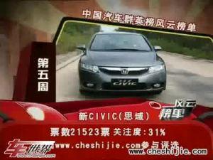 2009年中国汽车风云榜 完美的新思域