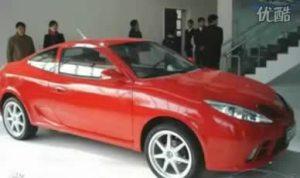 国产跑车系列之红色吉利中国龙